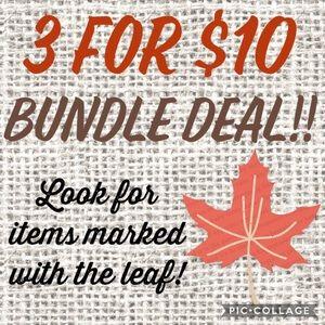 🍁 3 for $10 BUNDLE SALE!